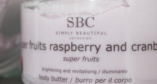 SBC Super Fruits Raspberry & Cranberry Body Butter