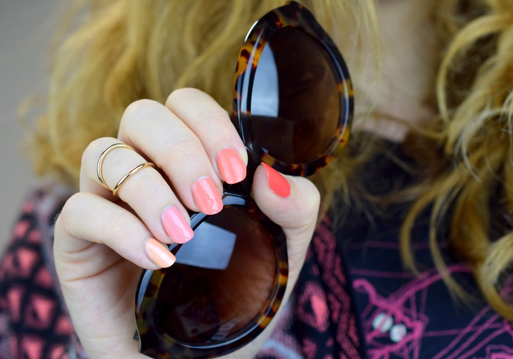Ombre Summer Nails – in Pfirsich & Koralle