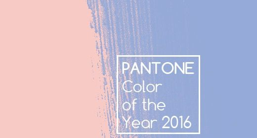PANTONE Color of the Year 2016 Rose Quartz & Serenity
