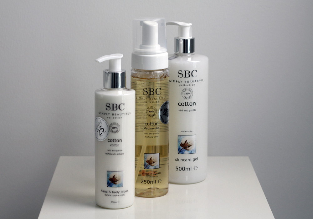 SBC COTTON Hand & Body Lotion, Shower Foam, Skincare Gel