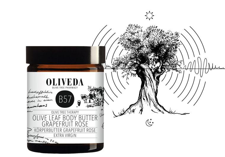 OLIVEDA Olive Leaf Body Butter Grapefruit Rose