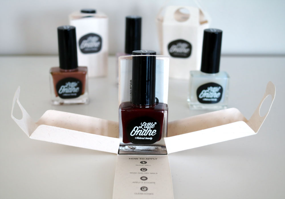 LITTLE ONDINE Peel-off Nail Polish Red Red Wine
