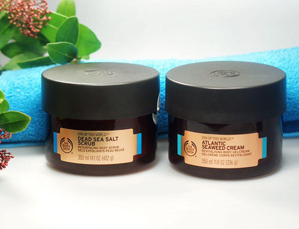 Revitalisierende Pflege aus dem Meer – THE BODY SHOP® Spa of the World™ Dead Sea Salt Scrub & Atlantic Seaweed Cream