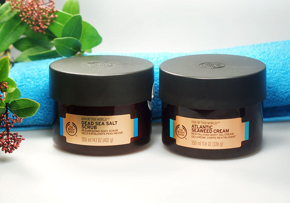 THE BODY SHOP Dead Sea Salt Scrub & Atlantic Seaweed Cream