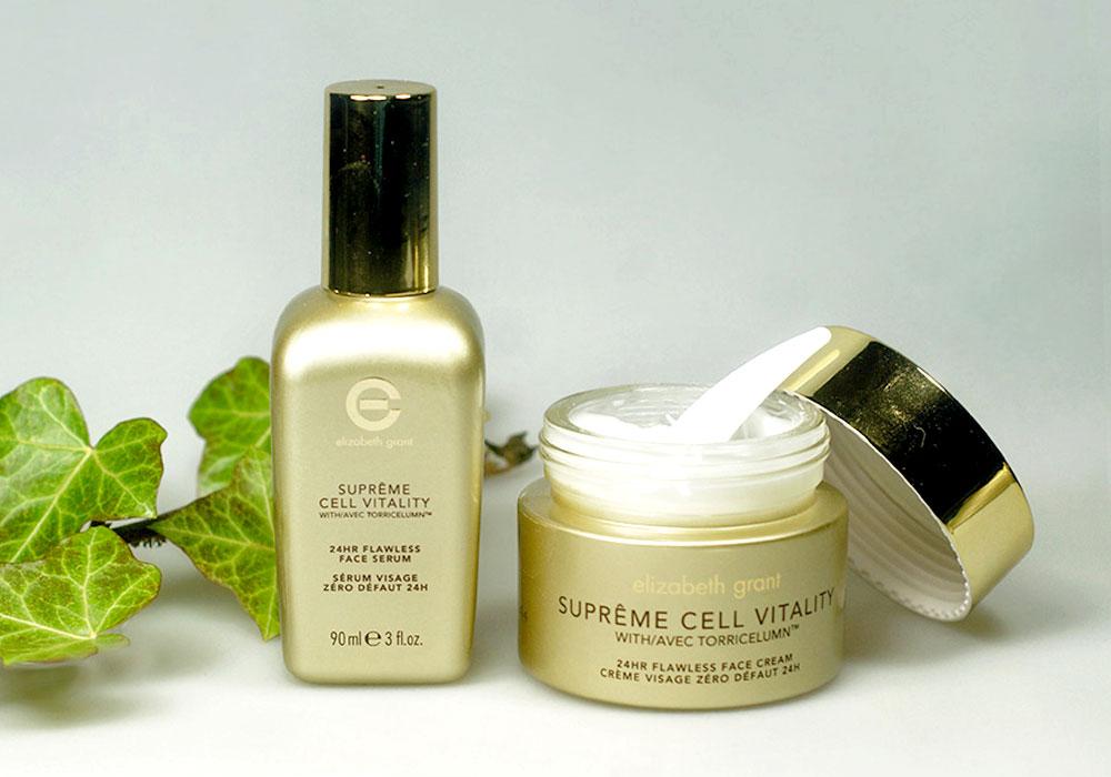 ELIZABETH GRANT SUPRÊME CELL VITALTY 24hr Flawless Face Serum & Cream