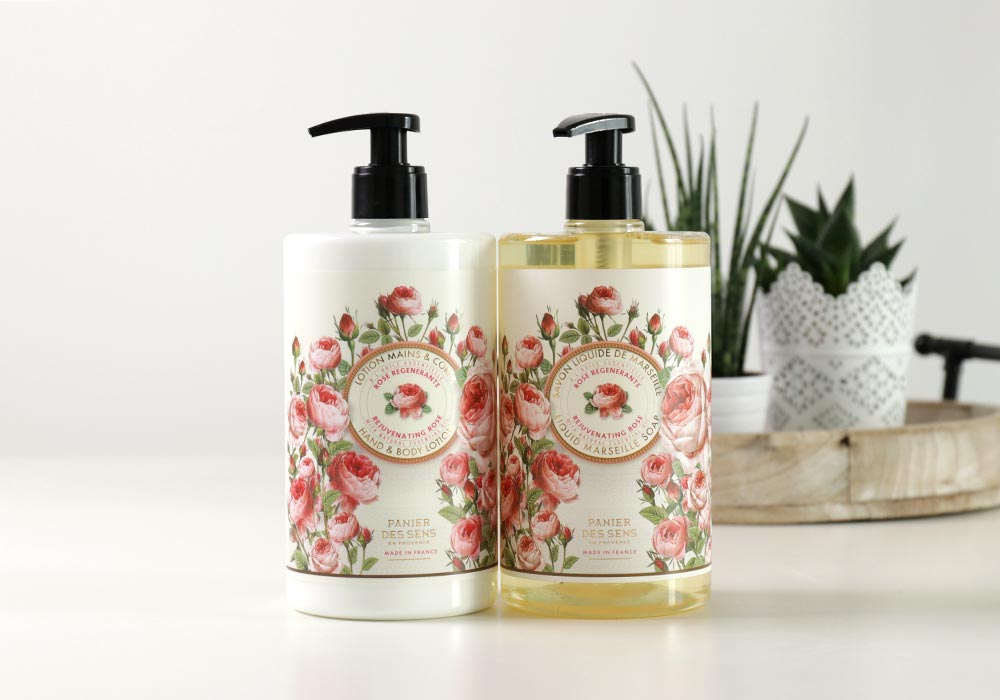 PANIER DES SENSE Liquid Marseille Soap & Lotion Rejuvenating Rose