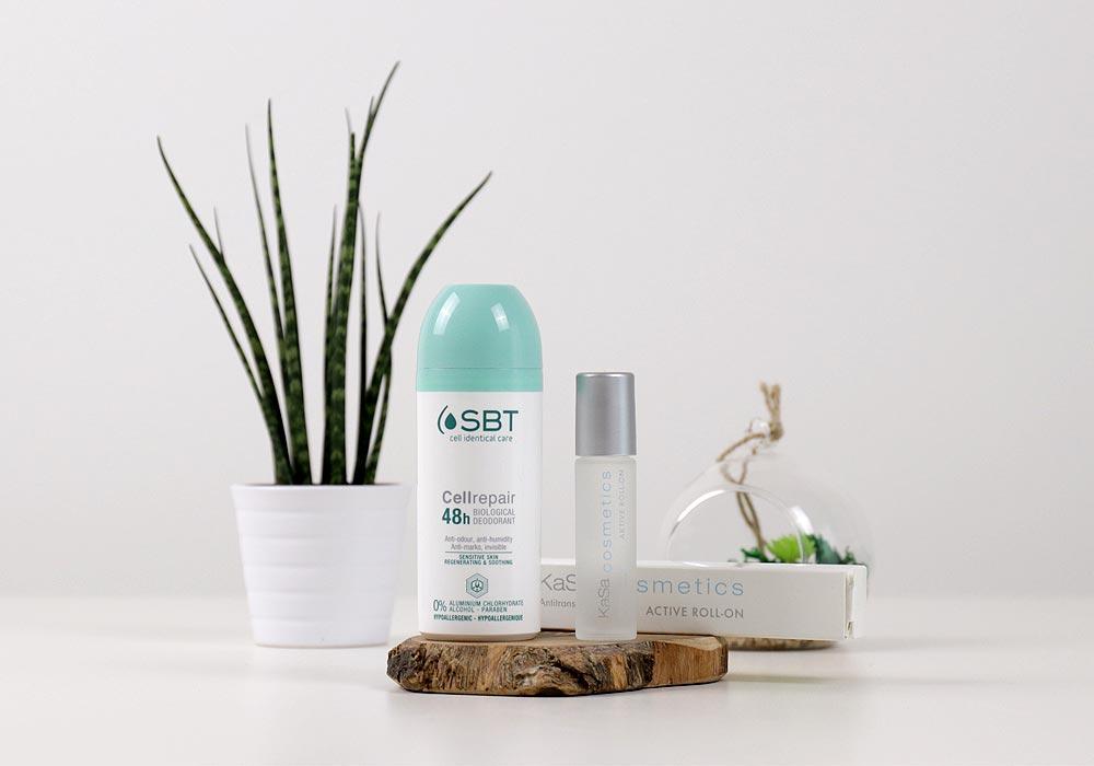 SBT CELLREPAIR 48h Biological Deo & KaSa cosmetics Active Roll-On & KaSa cosmetics Active Roll-On