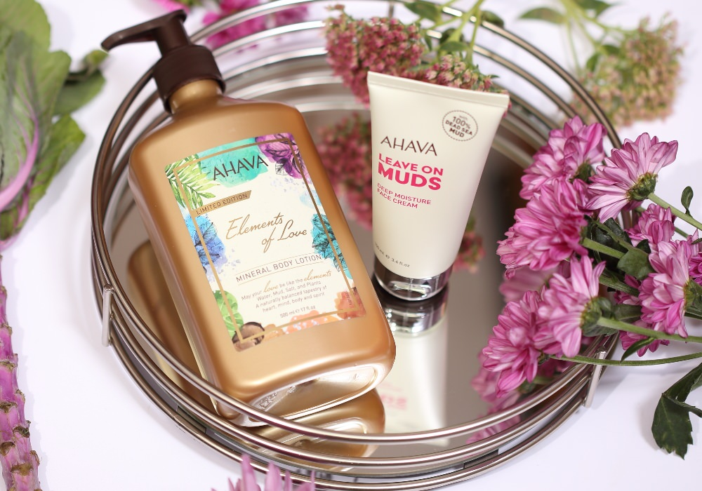 AHAVA Elements of Love Mineral Body Lotion LEAVE ON MUDS Deep Moisture Face Cream