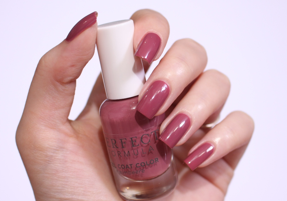 PERFECT FORMULA Gel Coat Color Himbeere Swatch