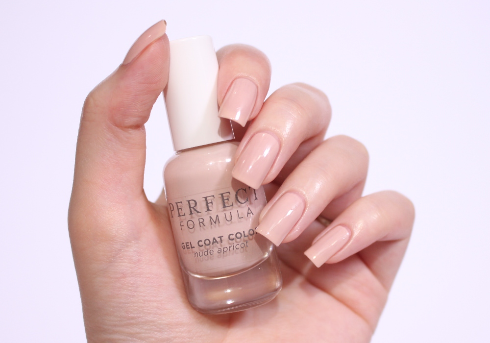 PERFECT FORMULA Gel Coat Color Nudeapricot Swatch