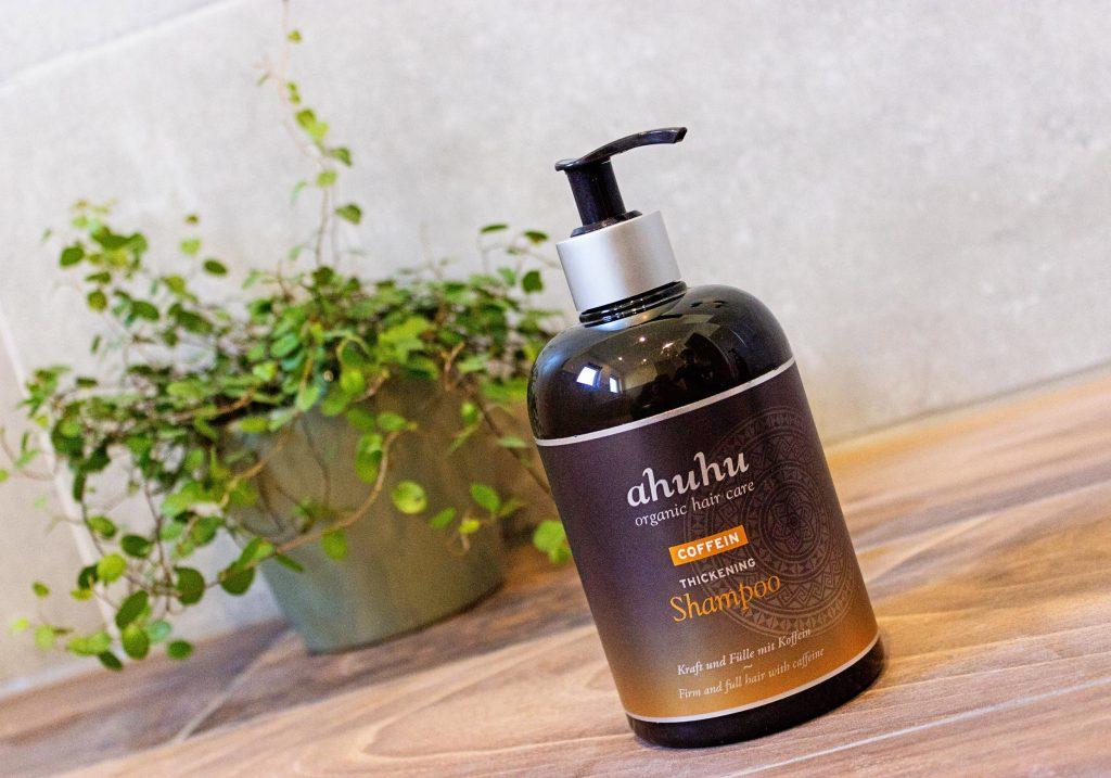 ahuhu organic hair care COFFEIN Thickening Shampoo