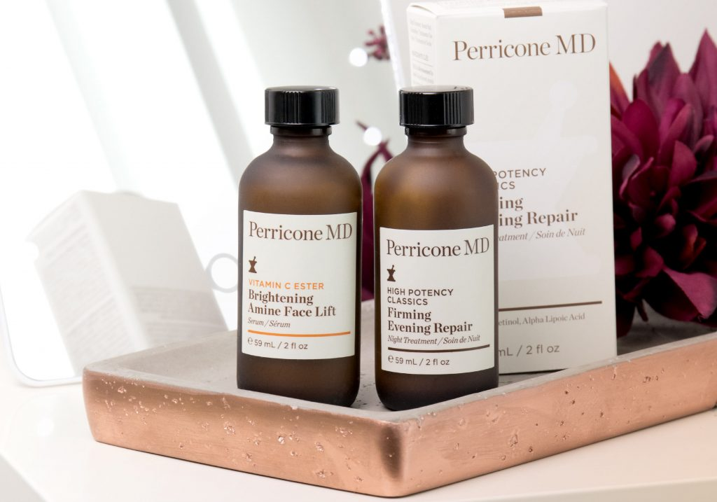 DR. PERRICONE VITAMIN C ESTER Brightening Amine Face Lift & HIGH POTENCY CLASSICS Firming Evening Repair