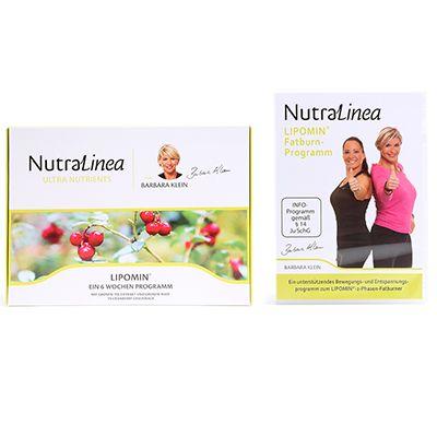 NUTRALINEA Lipomin 2-Phasen-Programm zur Fettverbrennung inkl. Workout-DVD