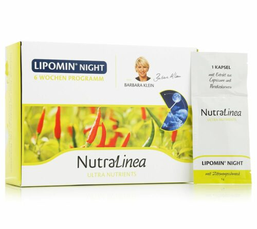 NUTRALINEA Lipomin Night 6-Wochen-Programm mit Kapseln & Drinks für 42 Tage