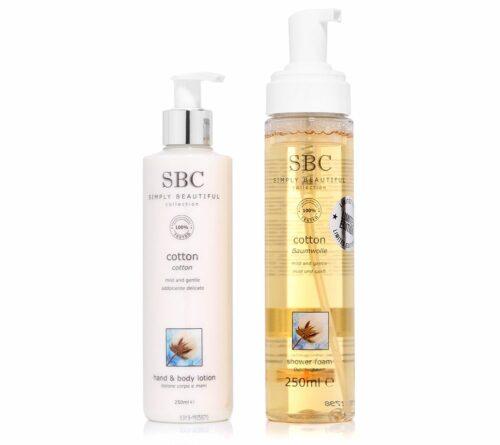 SBC Baumwolle Körper-/ Handlotion & Duschschaum je 250ml