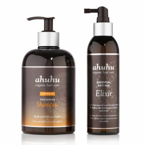 ahuhu organic hair care Coffein Shampoo 500ml & Elixir 200ml Sondergößen