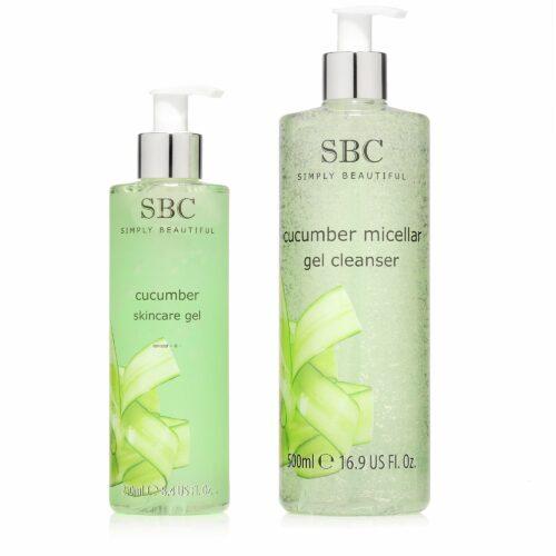 SBC Gurke Skincare Gel 250ml & Mizellen Reinigungs- gel 500ml