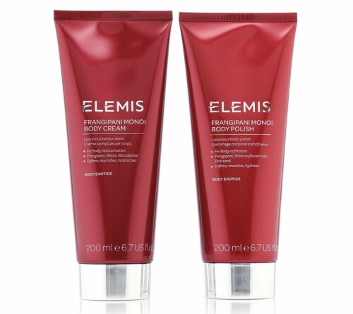 ELEMIS Frangipani Monoi Körperpflege-Set Body Polish 200ml & Body Cream 200ml