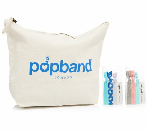 POPBAND 6 Haargummis in verschiedenen Designs inkl. Beauty Bag