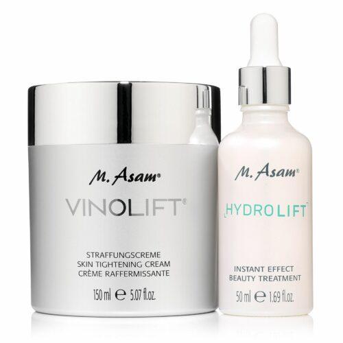 M.ASAM® Vinolift® Straffungscreme 150ml & Hydrolift Instant Effect Treatment 50ml