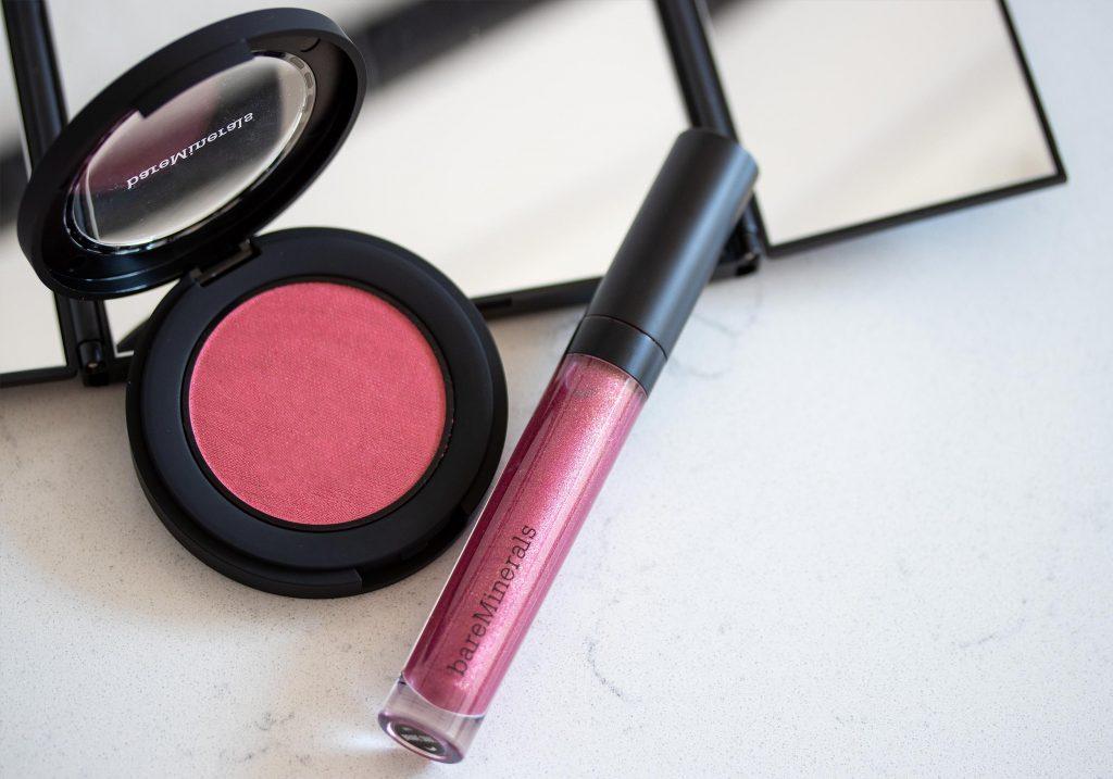bareMinerals Bounce & Blur Blush Mauve Sunrise Moxie Plumping Lipgloss Brave Soul