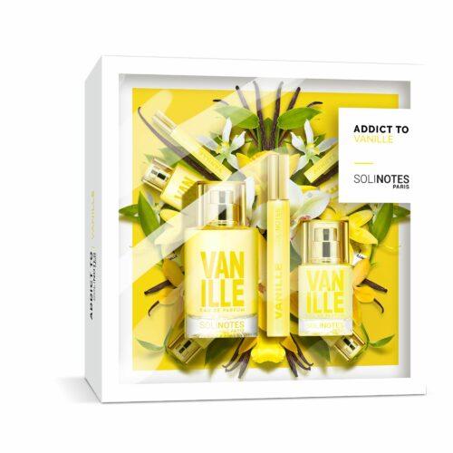 SOLINOTES Parfüm-Set mit 50ml, 15ml and Roll On 10ml, Duftrichtung Vanille