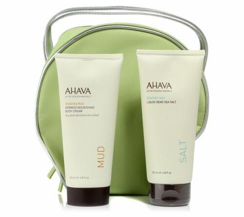 AHAVA Dermud Nourishing Body Cream 200ml & Liquid Dead Sea Salt 200ml