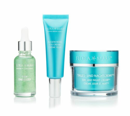FLORA MARE 24h-Creme 100ml Augencreme 30ml Skin Energizer 30ml 3tlg. Set