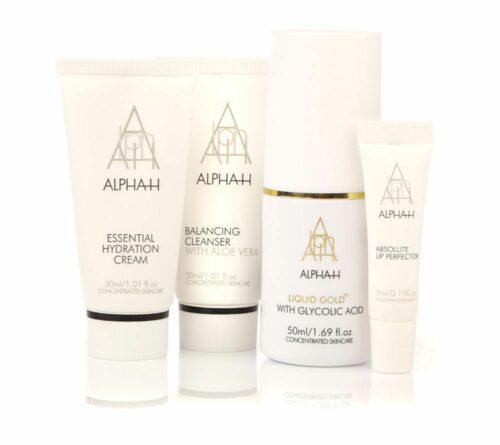 ALPHA-H Liquid Gold 50ml Essential Cream 30ml Cleanser 30ml Lip Perfector 3ml