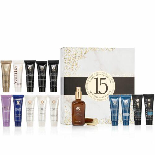ELIZABETH GRANT Geburtstags-Set mit 15 Produkten inkl. 90ml Serum 100% Torricelumn