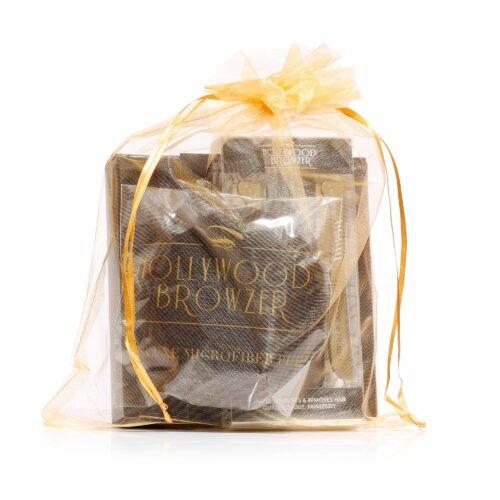 HOLLYWOOD BROWZER Haarentferner Doppelpack in gold mit Puff und Spiegel