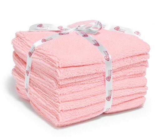 BADIZIO Beauty Mikrofasertücher zur Gesichtsreinigung rosa 10tlg.