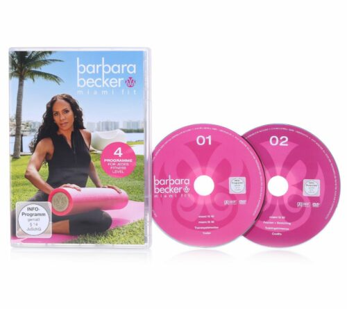 BARBARA BECKER MIAMI FIT Fitness-Programm Doppel-DVD 125min