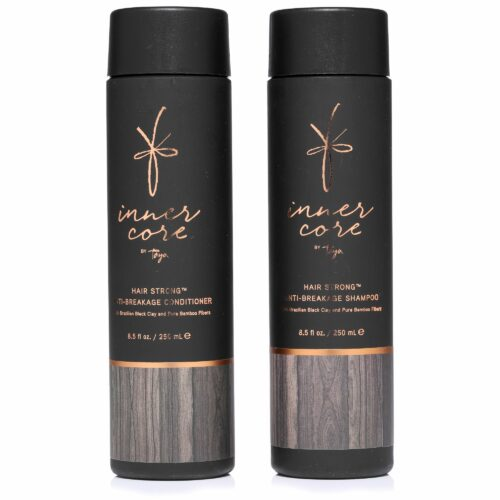 TAYA HAIRCARE Schwarze Tonerde Anti-Haarbruch Shampoo & Conditioner je 250ml