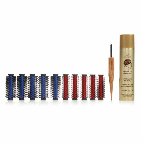 MARGOT SCHMITT® Basis Traumrollen-Set bunt für verschiedene Haarlängen & Ansatzspray 300ml