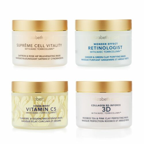ELIZABETH GRANT Masken-Set Collagen, Vitamin C5, Wonder Effect & Supreme, 4x 50ml