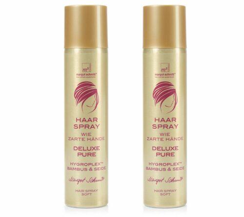 MARGOT SCHMITT® Deluxe Pure Haarspray mit Bambus & Seide 2x 300ml