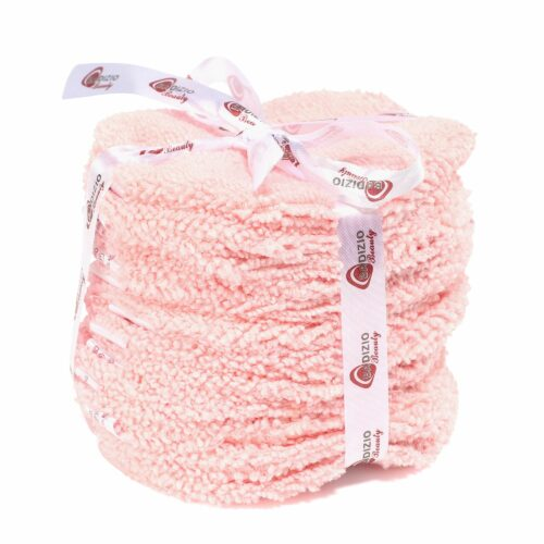 BADIZIO Beauty Mikrofaser Augenpads zum Abschminken rosa 12tlg.