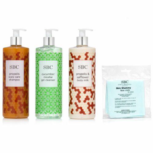 SBC Gurke Mizellenreinger, Propolis Shampoo & Bodymilk, 3x 500ml