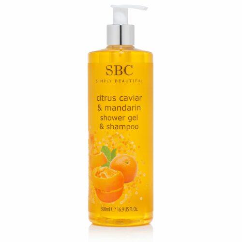 SBC Zitrus Kaviar & Mandarine 3in1-Duschgel & Shampoo, 500ml