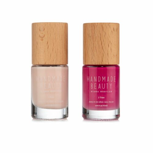 HANDMADE BEAUTY Nagellack Duo pflegend & deckend Guava & Pitaya 2x 11ml