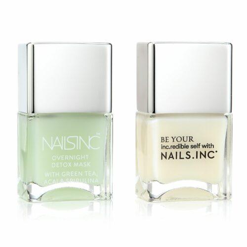 NAILS INC Day & Night Care Overnight Detox Gel-Rehabilitation 2x 14ml
