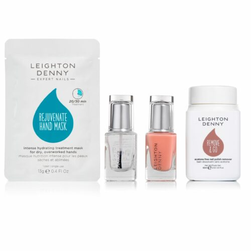 LEIGHTON DENNY Nails Transformed Handmaske, Base- & Topcoat je 12ml & Nagellackentferner