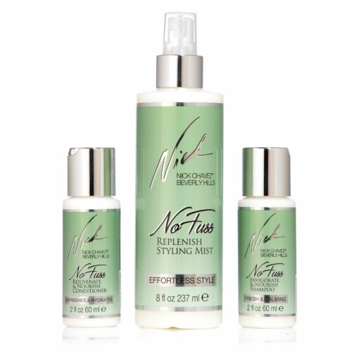 NICK CHAVEZ No Fuzz Shampoo 60ml Conditioner 60ml Mist 237ml