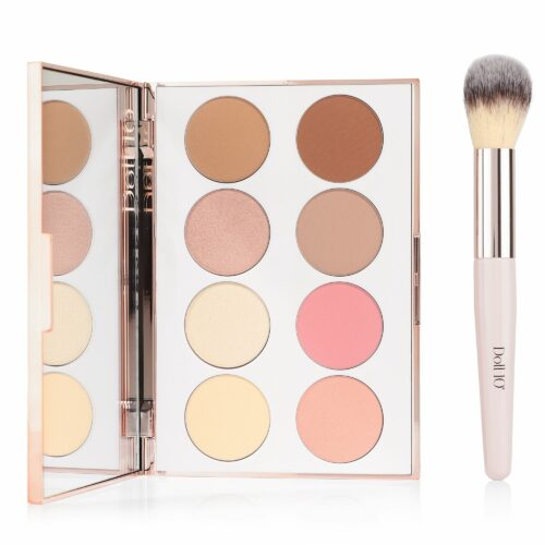 DOLL 10 BEAUTY Doll Skin Complexion Palette mit Rouge, Highlighter & Bronzer mit Pinsel