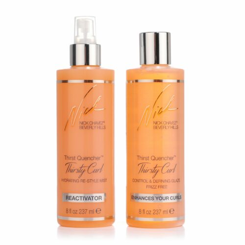 NICK CHAVEZ Thirsty Curl Locken Creme 237ml & Re-Style Spray 237ml Definition & Glanz