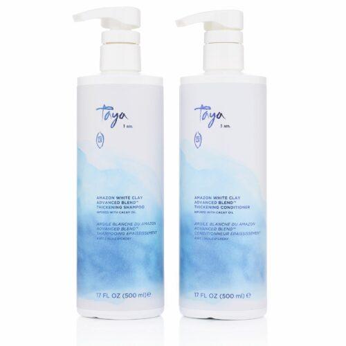 TAYA HAIRCARE Weiße Tonerde Shampoo 500ml & Conditioner 500ml Sondergrößen