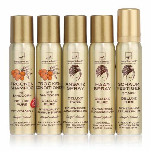 MARGOT SCHMITT® Trockenshampoo, Trockenconditioner, Schaumfestiger, Ansatz- & Haarspray