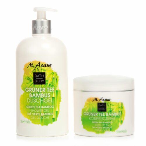 M.ASAM® Grüner Tee & Bambus Duschgel 750ml & Körpercreme 500ml