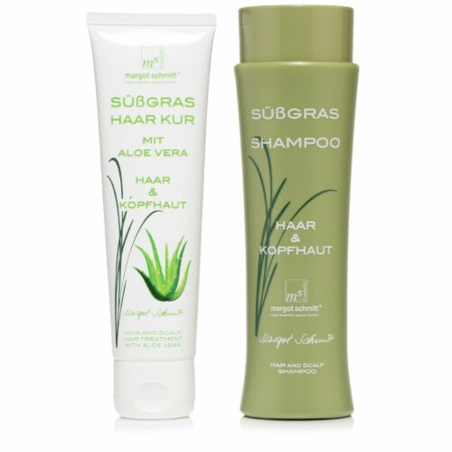 MARGOT SCHMITT® Sensitiv Süßgras Shampoo 200ml & Süssgras Aloe Vera Kur 100ml